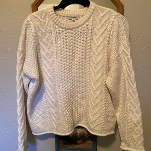 Madewell Cropped Knit Sweater